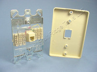 Leviton Ivory QUICKCONNECT Wall Mount Phone Jack Type 630A Telephone Outlet 40253-I
