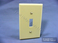 Leviton Almond 1-Gang Toggle Switch Cover Plastic Wallplate Switchplate 82001-A