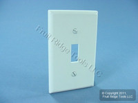 New Leviton White 1-Gang Toggle Switch Plastic Cover Wallplate Switchplate 88001