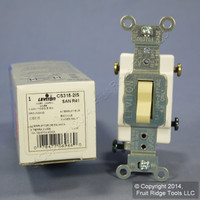 New Leviton Ivory 3-Way COMMERCIAL Toggle Wall Light Switch 15A CS315-2I Boxed
