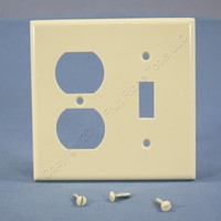 Leviton Light Almond Switch Plate Receptacle Outlet Cover Wallplate Switchplate 78005