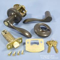 New RIGHT Weslock Traditonale Bordeau 640 Gray Keylock Lever Handle
