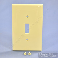 Leviton Ivory UNBREAKABLE Midway Switch Cover Wallplate Thermoplastic Nylon Switchplate PJ1-I