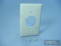 "Leviton Gray 1.60"" Receptacle Standard Size 1-Gang Unbreakable Wallplate 20A 30A Locking Outlet Nylon Cover 80720-GY"