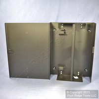 Signamax Black Fiber Optic 4-Module Wall Mount Enclosure w/ Access Door WFE4-B