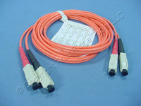 2M Leviton Fiber Optic Multi-Mode Duplex Patch Cable Cord ST 62.5/125 62DSC-M02