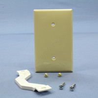 Leviton Ivory 1-Gang Blank Unbreakable Wall Plate Strap Mounted Box Cover 80719-I