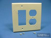Leviton Midway Ivory Duplex Outlet Cover Decora Rocker Switch GFCI Wallplate PJ826-I
