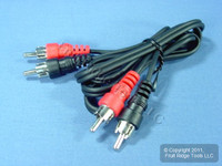 Leviton 3 Ft Audio Stereo Video Dubbing Transfer Patch Cable RCA Plug Shielded C5451-3