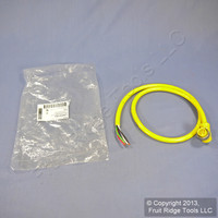 Daniel Woodhead 3' Yellow 90° Quick Disconnect 4P Male Pigtail 16/4 AWG PVC Cord 104003A01F0301