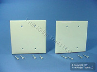 2 Leviton Light Almond Midway 2-gang Blank Wallplate Covers PJ23-T