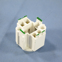 Leviton Compact Fluorescent Lamp Holder CFL Light Sockets G24d-2 Base Bottom Screw-Down 4-Pin 18W 26725-4A2