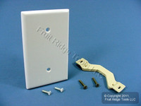 Leviton White Blank Cover Wall Plate Strap Mount 88019