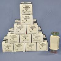 12 Pass & Seymour Light Almond Decorator Rocker Wall Switches 4-WAY 15A TM874-LA