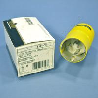 Leviton Turn Locking Marine Plug Twist Lock NON-NEMA 125V 50A Corrosion Resistant 6361-CR