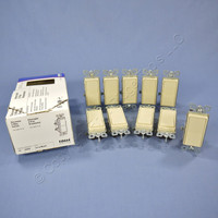 10 New Eagle Electric Ivory Decorator Rocker Wall Light Switches 3-WAY 15A 6503V