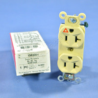 Pass & Seymour Ivory ISOLATED GROUND Outlet Receptacle 20A IG6300-I