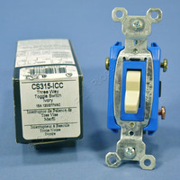 Pass & Seymour Ivory COMMERCIAL Toggle Light Switch 3-Way 15A CS315-ICC