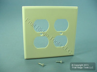 Leviton MIDWAY 2-Gang Almond Duplex Receptacle Wallplate Outlet Cover 80516-A