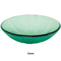 "Decolav 17"" Green Pinwheel Artistic Non-Tempered Glass Vanity Vessel Sink Bowl"