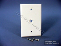 "Leviton White MIDWAY 1-Gang Phone Radio Cable Wallplate .312"" Opening 80513-W"