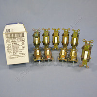 10 Eagle Electric Almond COMMERCIAL Toggle Wall Light Switches 3-WAY 20A CS320A