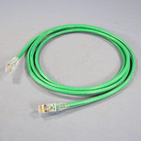 Leviton Green 7' Cat 6+ Extreme Ethernet LAN Patch Cord Cable Cat6 Plus 7 Ft 6D460-7G
