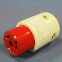 Leviton L12-20 Turn Locking Connector Plug NEMA L12-20R 20A 3Ø 480V Bulk 71220-C