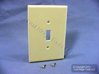 Leviton Almond JUMBO Toggle Switch Cover Wallplate Oversize Switchplate 82101