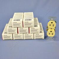 10 Cooper RESIDENTIAL Ivory Duplex Outlet Receptacles NEMA 5-15R 15A 125V 270V