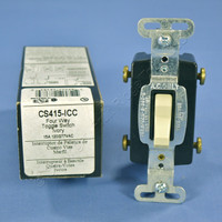 Pass & Seymour Ivory COMMERCIAL 4-WAY Toggle Light Switch 15A CS415-ICC