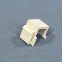 New Cooper White Modular Wallplate Solid Blank One Port Filler Insert 5550-5EW