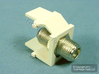 Leviton Acenti Sand Quickport F-Type Coaxial Cable Jack 75-Ohm AC084-FSF