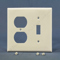 Cooper Standard 2-Gang White UNBREAKABLE Nylon Switch/Outlet Wallplate Receptacle Cover 5138W