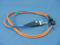 New 1M Leviton Fiber Optic Multi-Mode Duplex Patch Cable Cord MT-RJ ST 498MT-M01