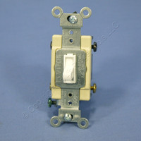 Leviton White 4-WAY COMMERCIAL Grade Framed Toggle Switch Control 20A 120/277V Bulk 54524-2W