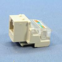 Cooper Aspire Desert Sand Cat5e Snap-In Modular Jack 110 Style 8-Position 9557DS