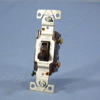 Cooper Brown 3-Way Toggle Wall Light Switch CO/ALR Aluminum Wiring 15A 5223-7B