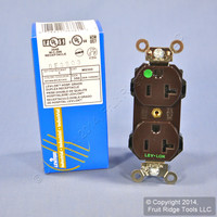 New Leviton Brown HOSPITAL GRADE LEV-LOK Receptacle Duplex Outlet 20A 125V M8300
