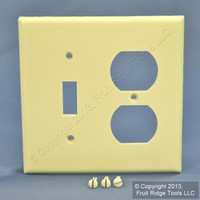 Leviton Almond UNBREAKABLE Switch/Outlet Wallplate Receptacle Cover Switchplate 80705-A