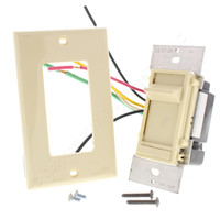 Leviton Ivory Decora Slide Dimmer Switch Fluorescent 2-12 Bulbs 3-Way Preset 480W 277V 6663-P7I