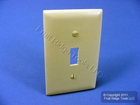 New P&S Ivory Large 1-Gang UNBREAKABLE Toggle Switch Nylon Cover Wallplate TP1-I