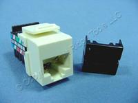 Leviton Almond Cat 3 Quickport Jack Cat3 RJ45 Telephone T568A/B 8-Wire 41108-RA3