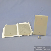 3 Leviton Gray 1-Gang Blank Unbreakable Wall Plates Box Covers 80714-GY