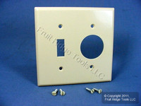 """Leviton Ivory 2G Switch Cover 1.406"""" Receptacle Outlet Plastic Wallplate 86007"""