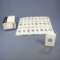 "25 Cooper White 1.406"" Receptacle Single Outlet 1-Gang Standard Thermoset Wallplate Covers 2131W"