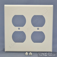 Leviton White 2-Gang Receptacle Wallplate Unbreakable Duplex Outlet Cover 80716-W