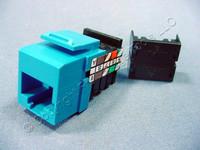 Leviton Blue Keyed Cat 3 Snap-In Quickport Jack Cat3 RJ45 Telephone 41108-KL3
