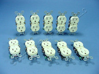 10 Leviton Residential Almond Duplex Receptacle Outlets 5-15R 15A 125V 5320-ACP