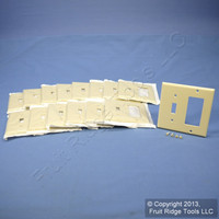15 Leviton Ivory Decora GFCI Switch Cover Receptacle Wall Plates Switchplates 80405-I